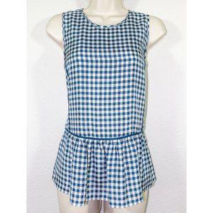 J. Crew silk peplum sleeveless blouse